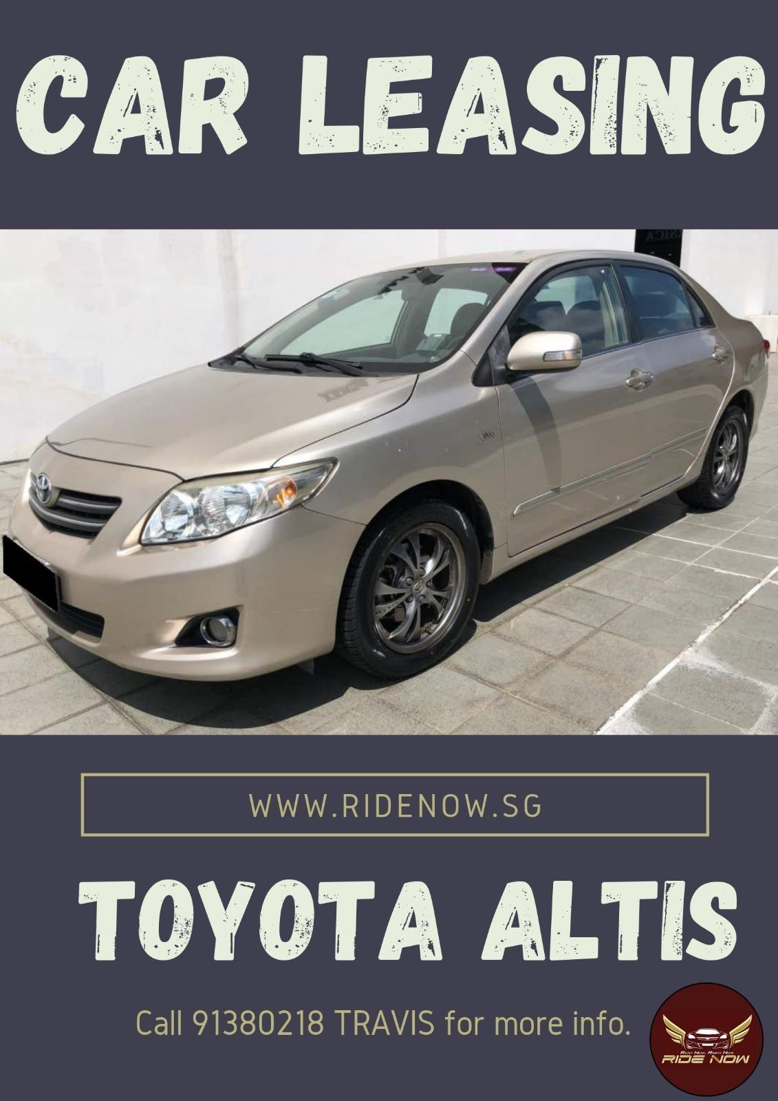 Toyota Altis 1.6A Fuel efficient vehicle for Private Hire Usage!