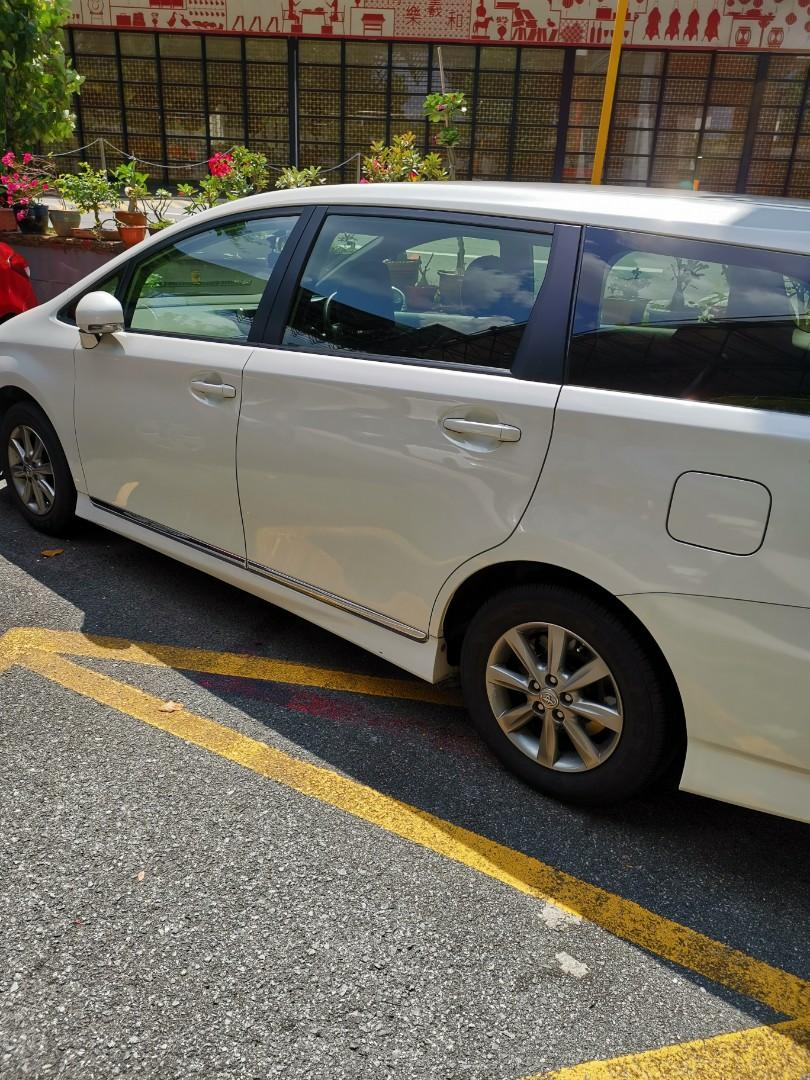 Toyota Wish current model for rental. PHV ready from $490/weekly .