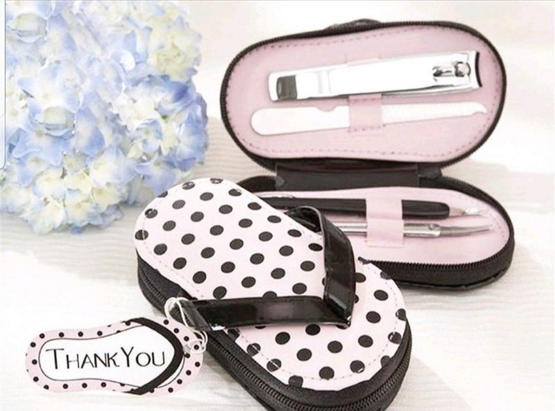 Travel Organiser, Toiletries / Undergarment / Cosmetics / Multi Pouch, Foldable Luggage Latch-On Bag, Manicure & Pedicure Gift set