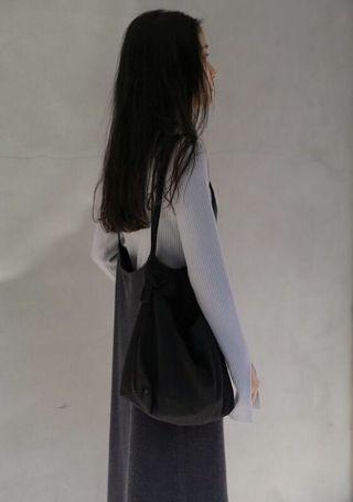 Studio doe 安哥拉細肩斜襬針織洋裝