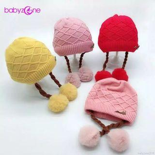 Topi Kupluk bayi lucu rajut korea