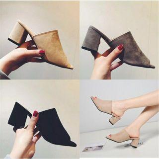 Ready stock mule heels