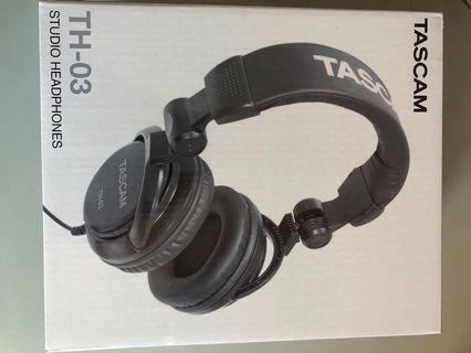 BNIB Tascam TH03 Studio Headphones