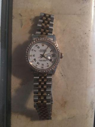 Authentic Rolex with gold and diamond for man and women (unisex)