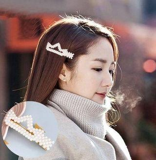 Hairpin Korea Pearl Gold + Ivory