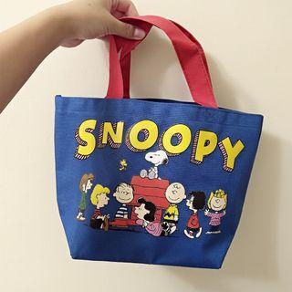 Snoopy 史努比 簡約可愛 手提袋 便當袋