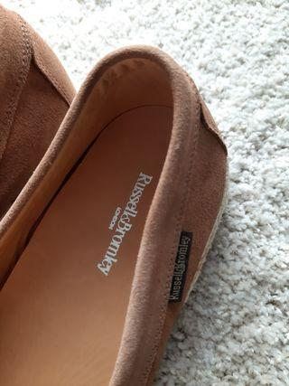 BRAND NEW! Russell and Bromley perforated espadrilles.