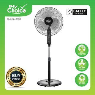 🚚 Stand Fan - My Choice by PowerPac 16 inch Stand Fan with Oscillation (MC40)