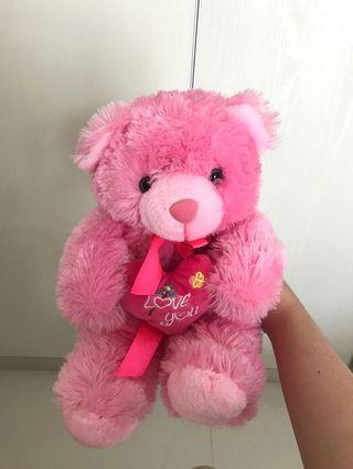 Boneka Teddy Bear Pink Lucu