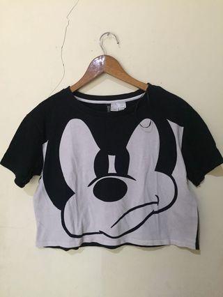 H&M Crop Top tshirt tee kaos hnm