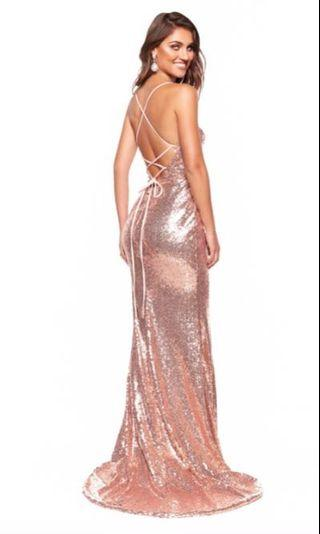A&N Luxe Label Rose Gold Gown (S)