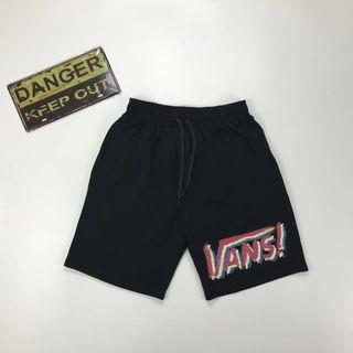 Vans Off The Wall Vintage Logo Cotton Shorts Sweatpants
