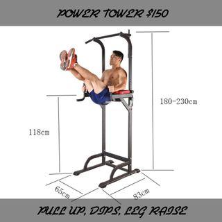 Home gym power tower