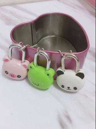 可愛動物鑰匙鎖