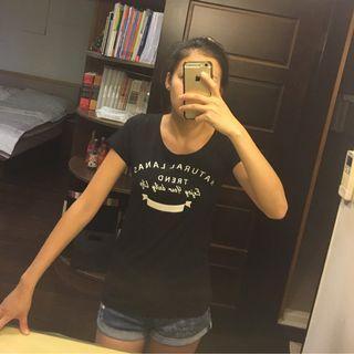 Lanas黑色T Shirt