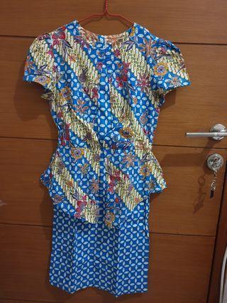 Batik Dress Motif Bunga for WOMAN