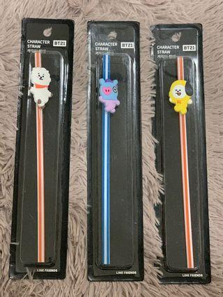 [RS/WTS] BT21 CHARACTER STRAW