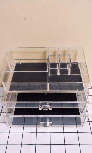 透明壓克力飾品 保養品 化妝品 收納盒 收納抽屜