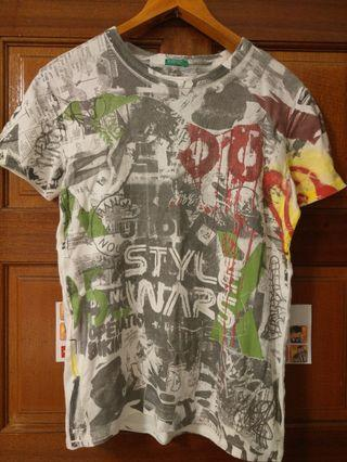 UNITED COLORS OF BENETTON T Shirt Size : M