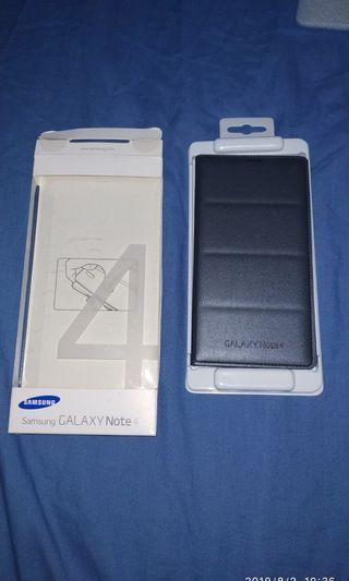 Samsung Galaxy note4 原廠插卡式炫彩保護套+鋼化玻璃膜