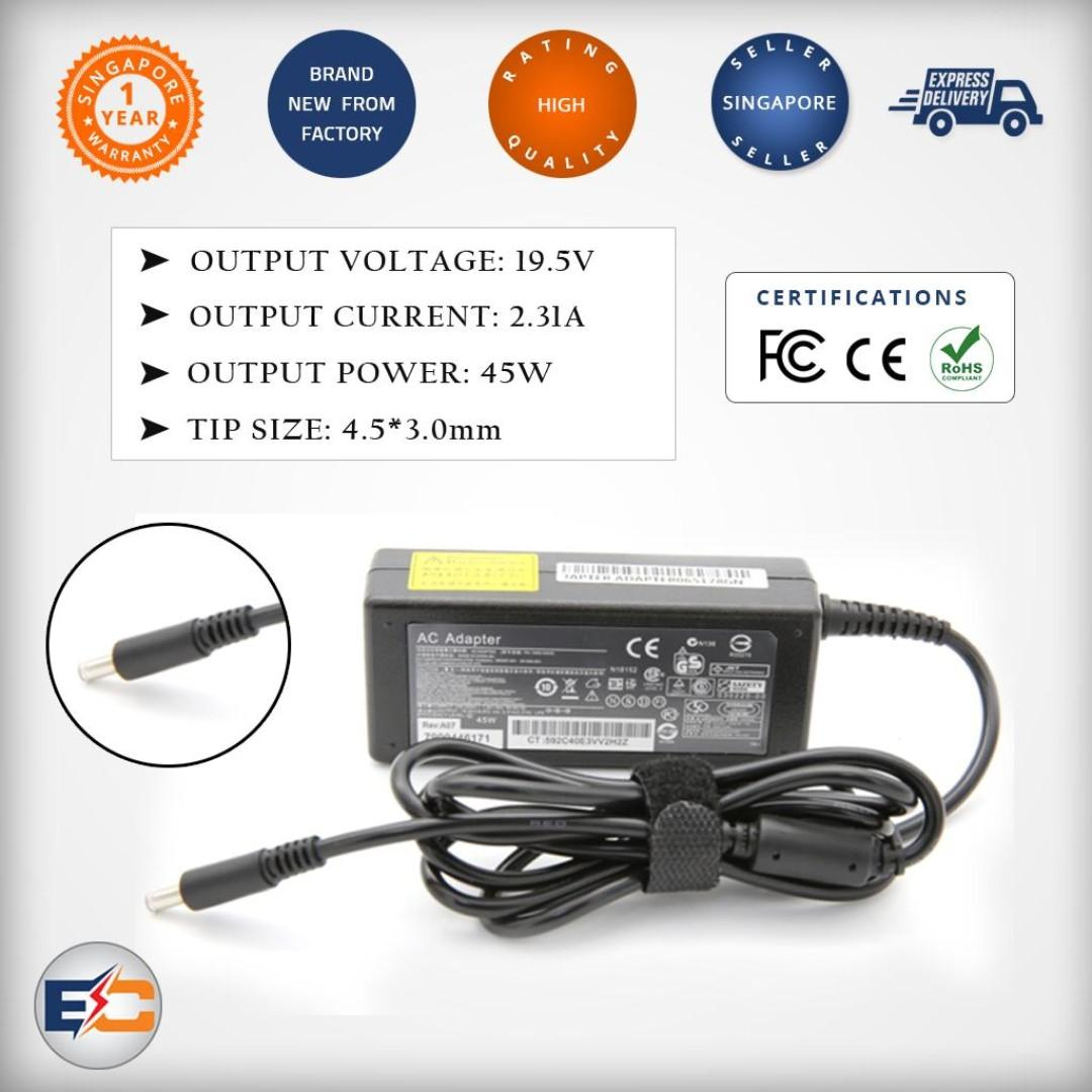 New Genuine Dell Inspiron 11 3147 3148 13 7348 7347 45W Charger Power AC Adapter