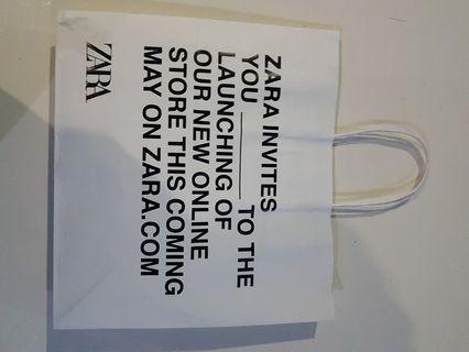 Paperbag paper bag zara