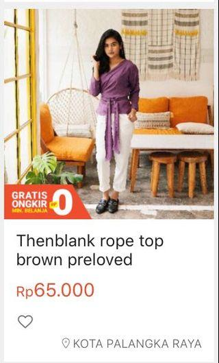 Thenblank rope top brown colour