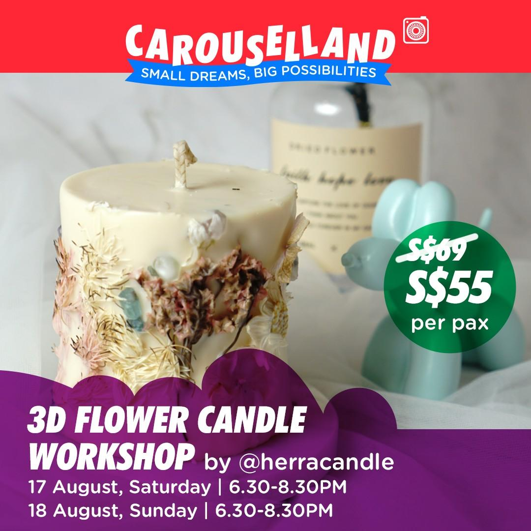 3D Flower Candle Making Workshop at Carouselland 2019
