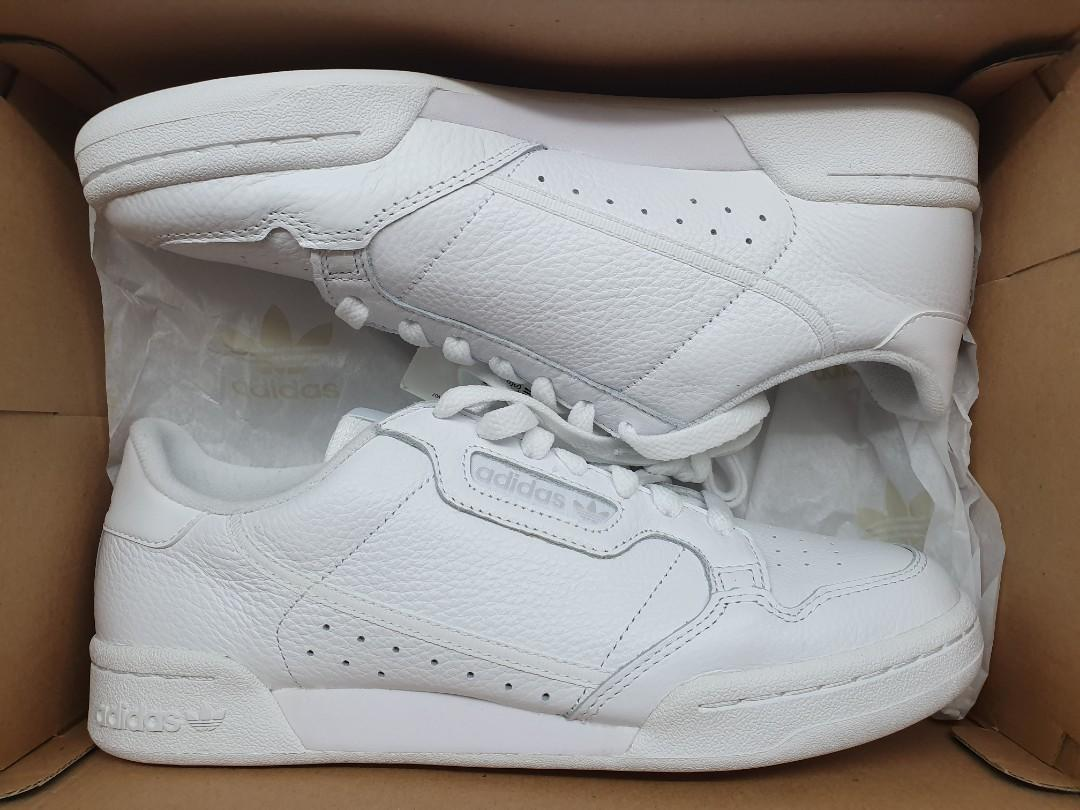 size 40 7ab7d 8b59f Adidas Continental 80 Triple White sz 8 not supreme off ...
