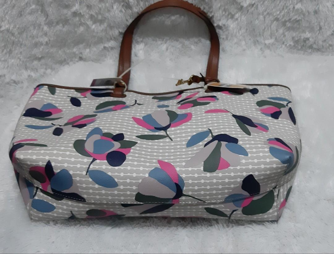 Authentic Fossil Brandnew with tag Rachael Tote Flower Multicolor  💛💛💛💛💛