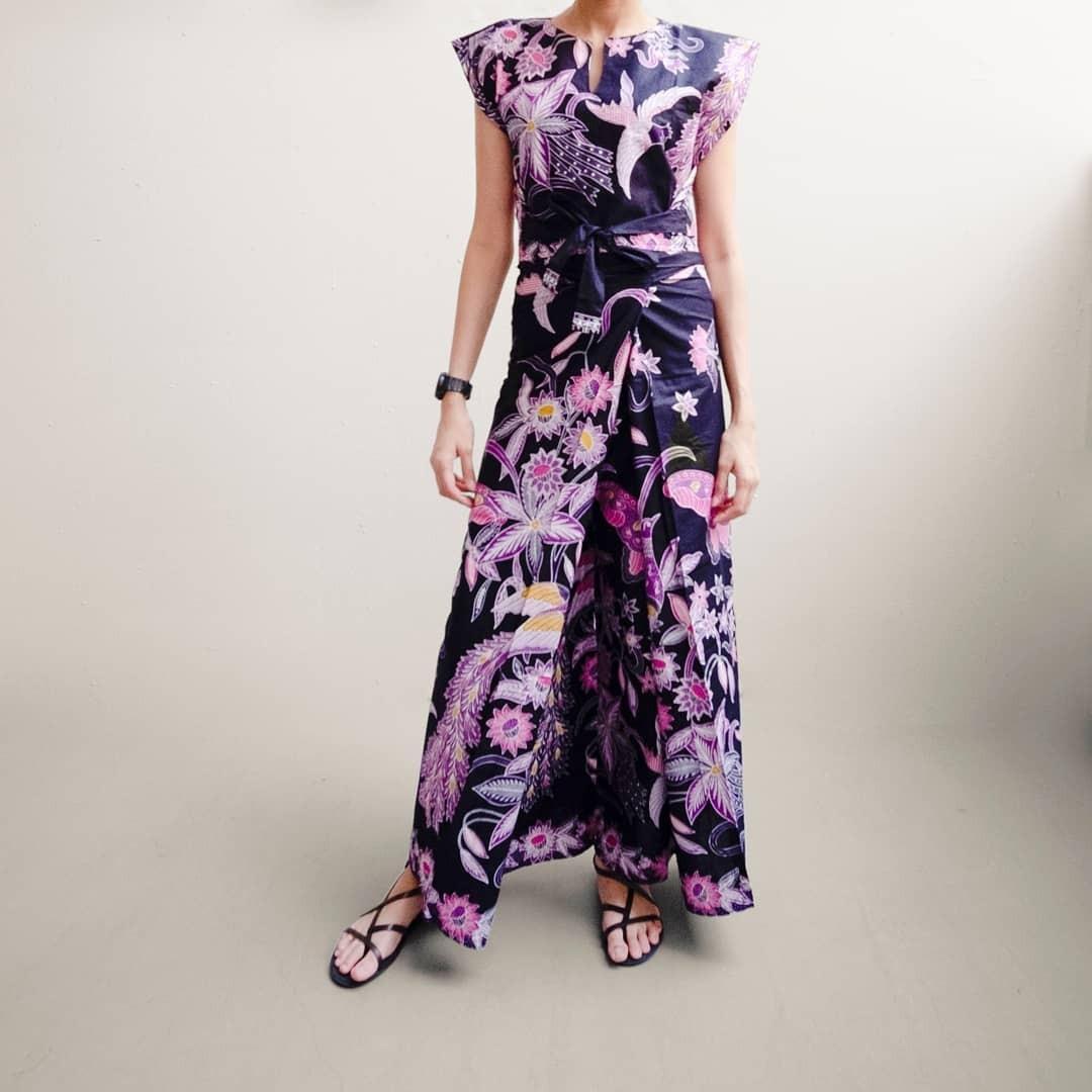 Batik culotte wrap pants