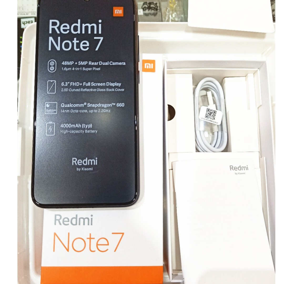 Brand new Xiaomi Redmi Note 7/ Black colour 4GB RAM/64GB ROM