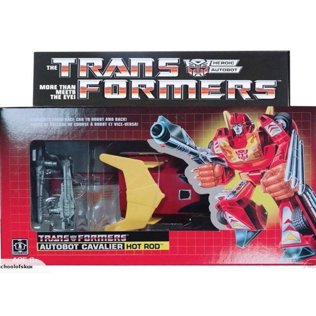 Brand New Hasbro Transformers VINTAGE G1 Commemorative Series Hot Rod Figure