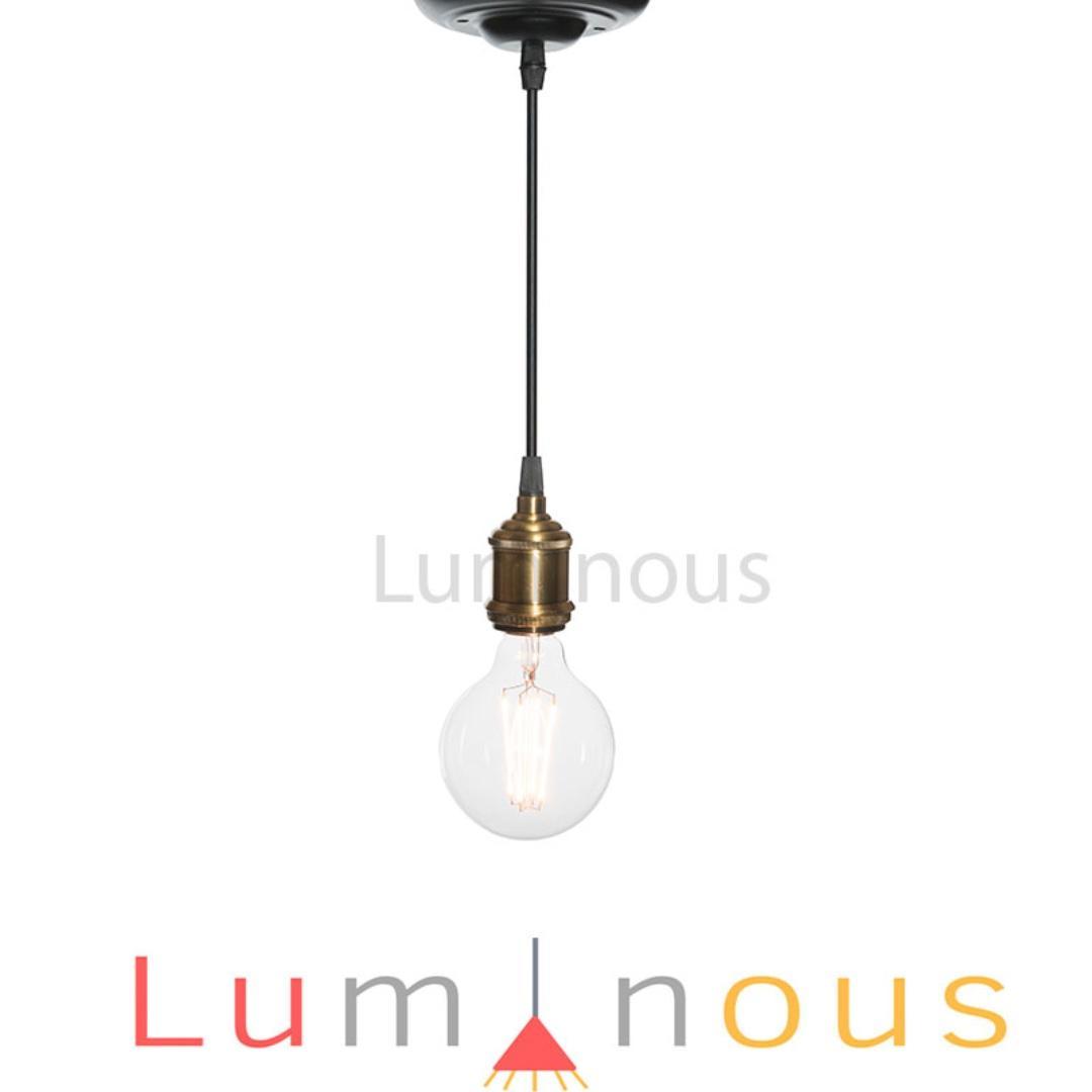 Bronze Bulb Pendant Light 0009