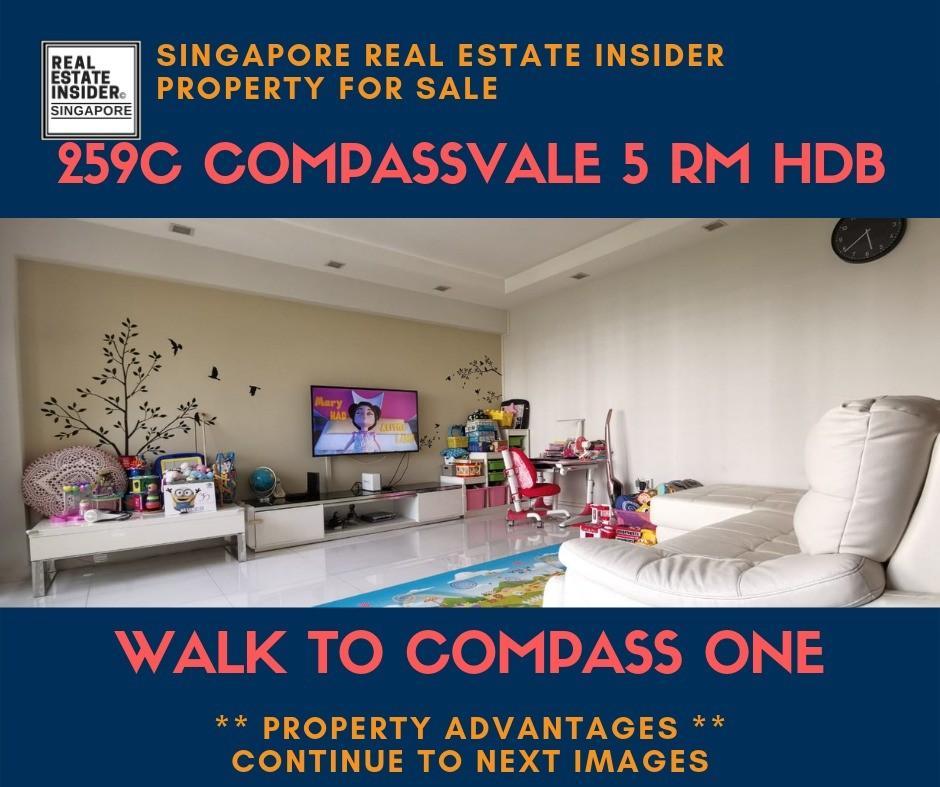 Cheapest 259C COMPASSVALE Road 5 Room Corner
