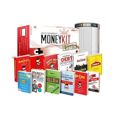 Chink+ MoneyKit 2.0 + 12 FREE BOOKS + 1 IPON CAN by Chinkee Tan - Do It Yourself Money Kit