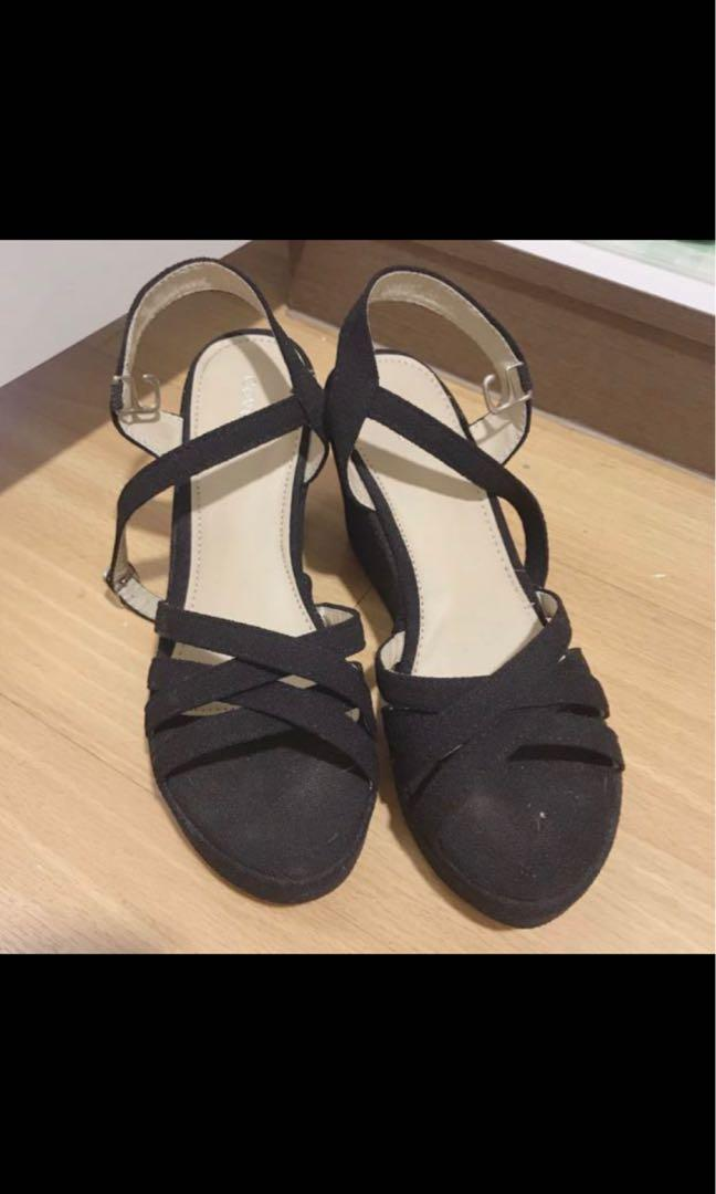 Covet Black Heels