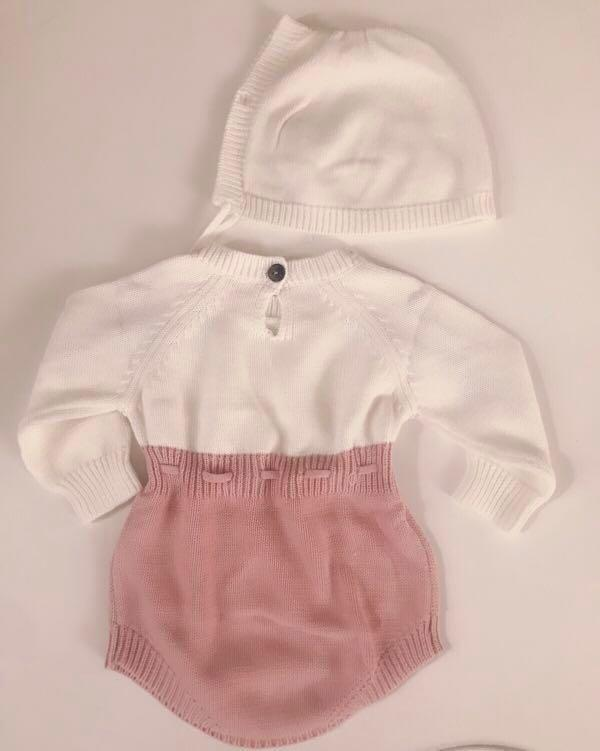 Doll me up kids baby girl embroidered knit hoody romper various sizes
