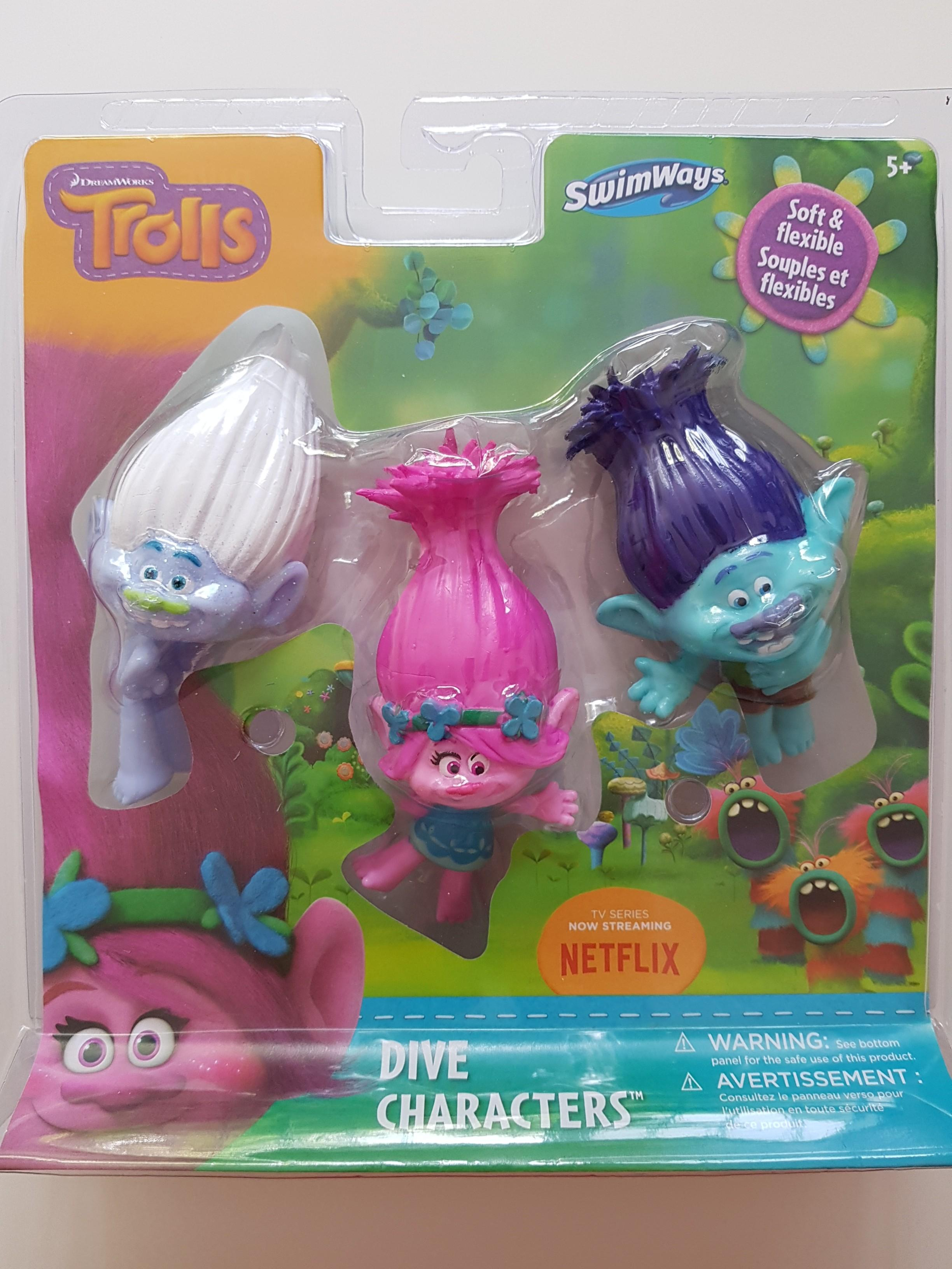 DreamWorks Trolls Soft and Flexible Dive Characters - Pool Games