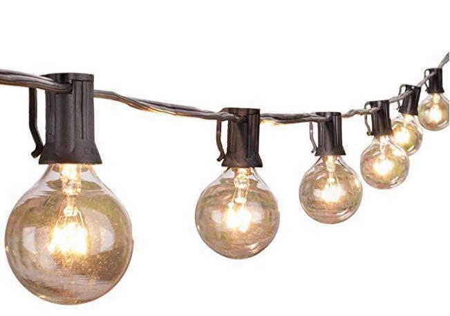 E2585 Lights With Clear Bulbs Ul Listed Backyard Patio