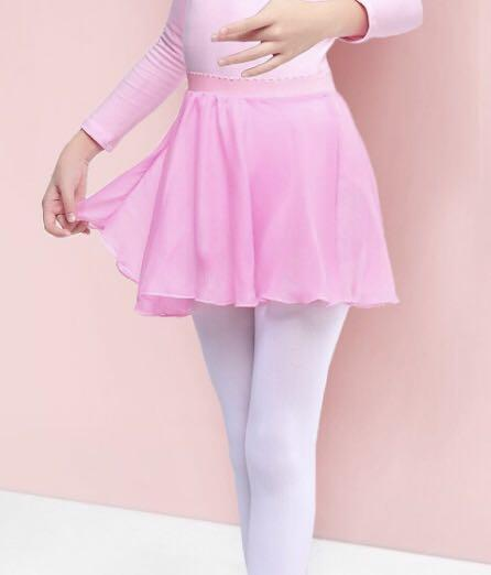 Girls Children Chiffon Dance Skirt Ballet Tutu Gymnastics Wrap Skirt