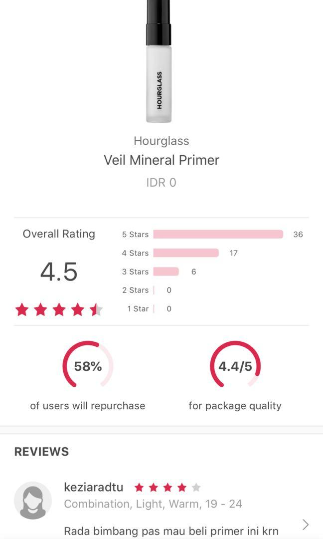 Hourglass- Veil Mineral Primer