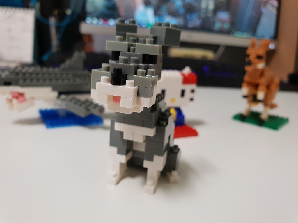 Kawada Nanoblock Hello kitty Great White Shark Kangaroo Schnauzer