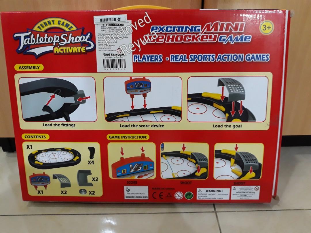 Kiddy fun Mainan anak pinball Tabletop shoot