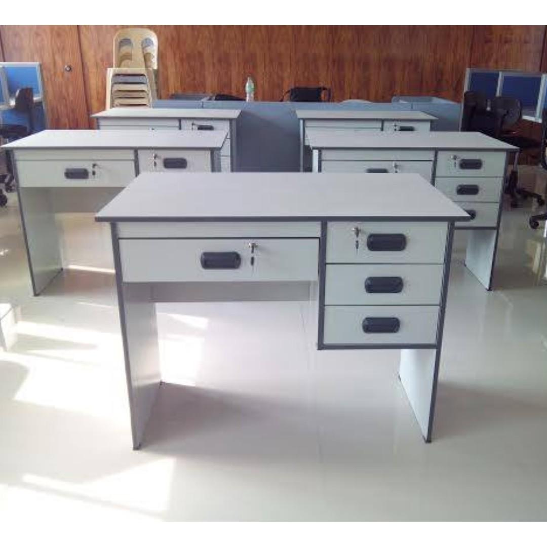 Light Gray Color Computer Table Office