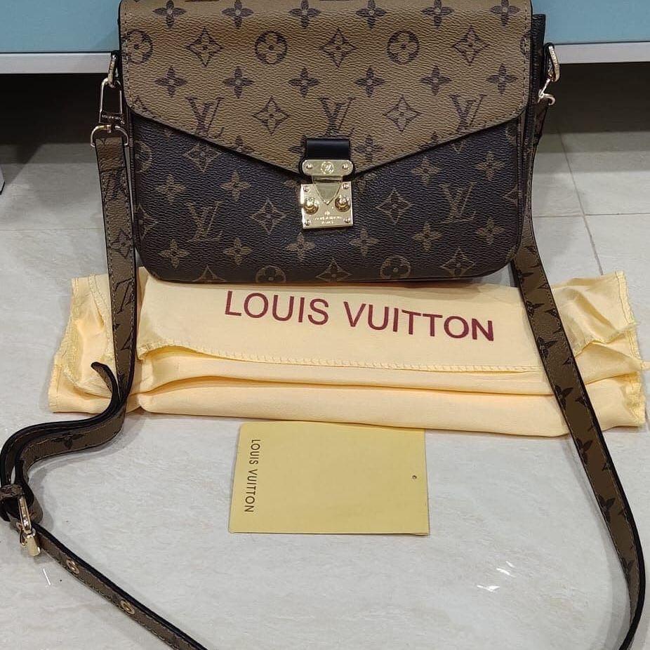 Louis Vuitton Metis original leather bahan kulit asli ada nomor seri kulit mulus Like New