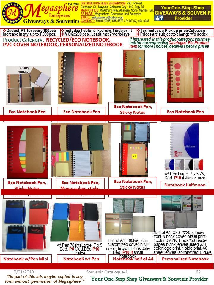 Memo Cubes, Sticky Notes, Notepad, Notebook Giveaways Souvenirs Promotional Items Corporate Giveaways
