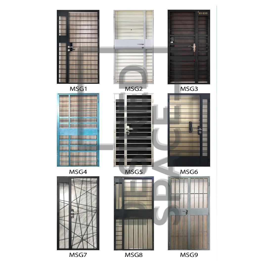 Promo!! Mild Steel Door Gates: $468 / $568