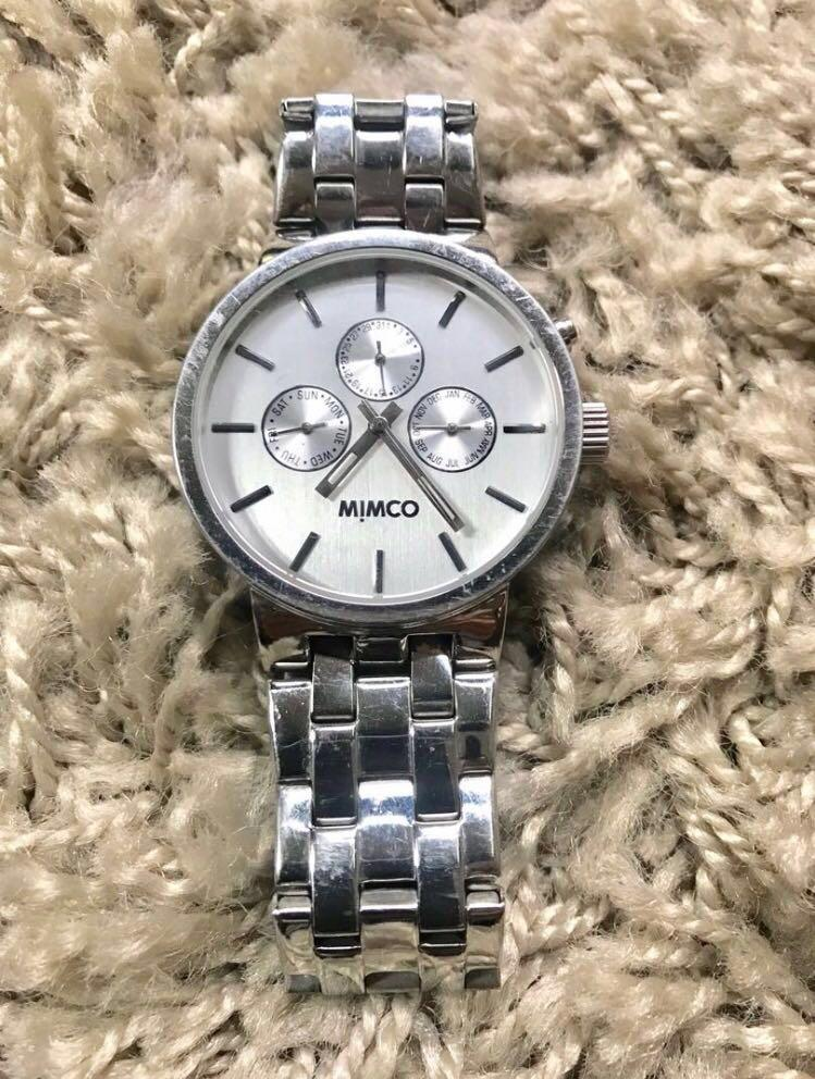 MIMCO TIMEPEACE STAINLESS STEEL WATCH RRP$229 AUTHENTIC