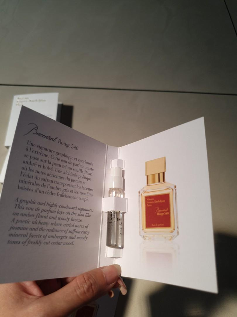 Most wanted MFK baccarat rouge 540 vial
